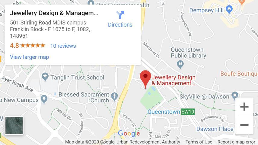 Snapshot of JDMIS location on google Maps