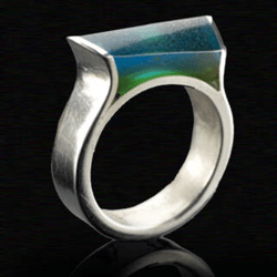 Work with UV Resins Combined with Silver