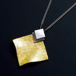 2. Pendant with Gold Leaf